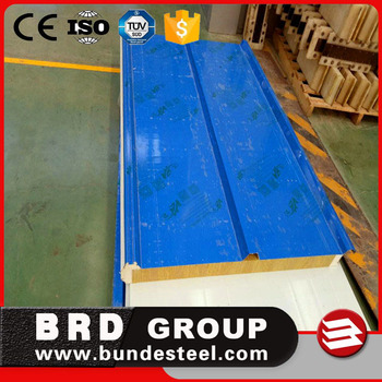 soundproof and fireproof rockwool sandwich roof panel