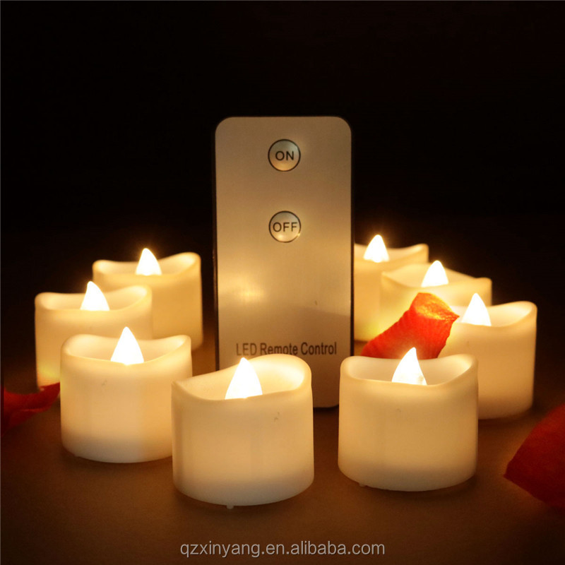 Realistic and Bright Flickering Bulb Battery Operated Flameless LED Tea Light for Seasonal &amp; Festival Celebration, Pack of <strong>12</strong>,