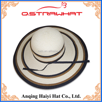 Wholesale ladies dress accessories sunshade straw hat from China