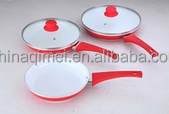 non stick ceramic aluminum fry pan with glass lid