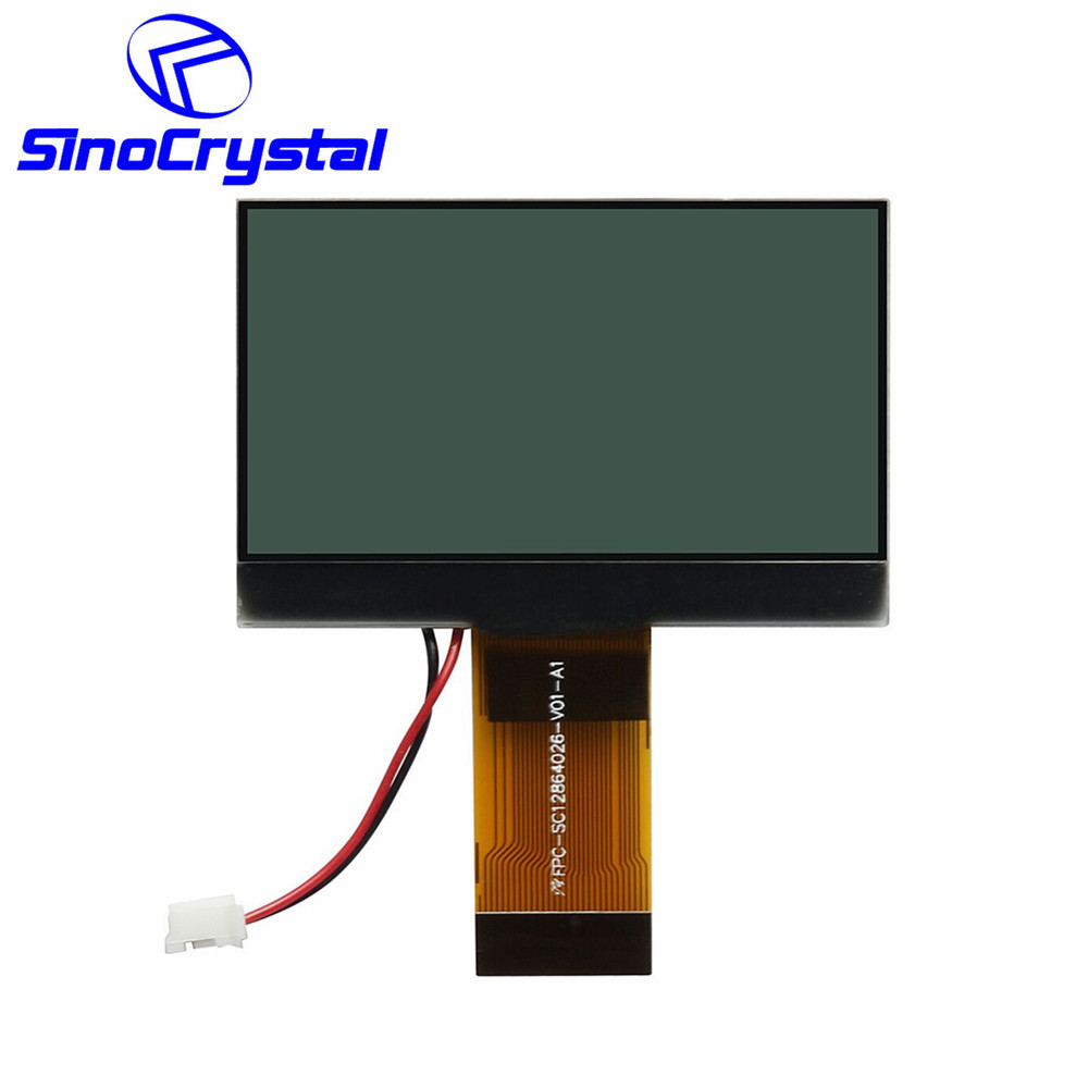 FSTN Positive 2.0 inch 128x64 Dot Matrix LCD Module 6 o'clock viewing angle
