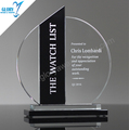 New Round black glass trophy Award for sports 2017