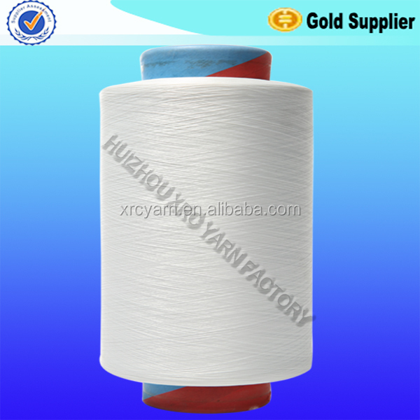 100D/24F/2 raw white DTY high stretch 100% nylon 6 filament yarn for gloves