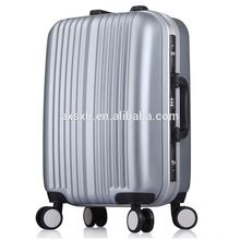 Newest sale excellent quality travel abs aluminium frame upright trolley case