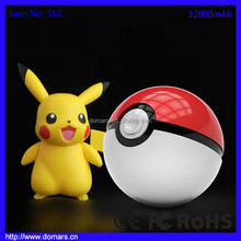 Domars Hot Game Pokemon Go Game Pokeball Power Bank Charger High Capacity 12000mAh Pokemon Go Game Pokeball Power Bank Charger