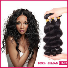 Alibaba express turkey natural color hair extension/thick end natural raw brazilian hair