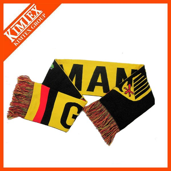 Wholesale Newest Custom Sports Knitted Football Fan Scarf
