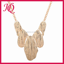 Fashion lastest design gold plating statement necklace jewelry