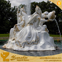outdoor marble large water fountain with statues for sale