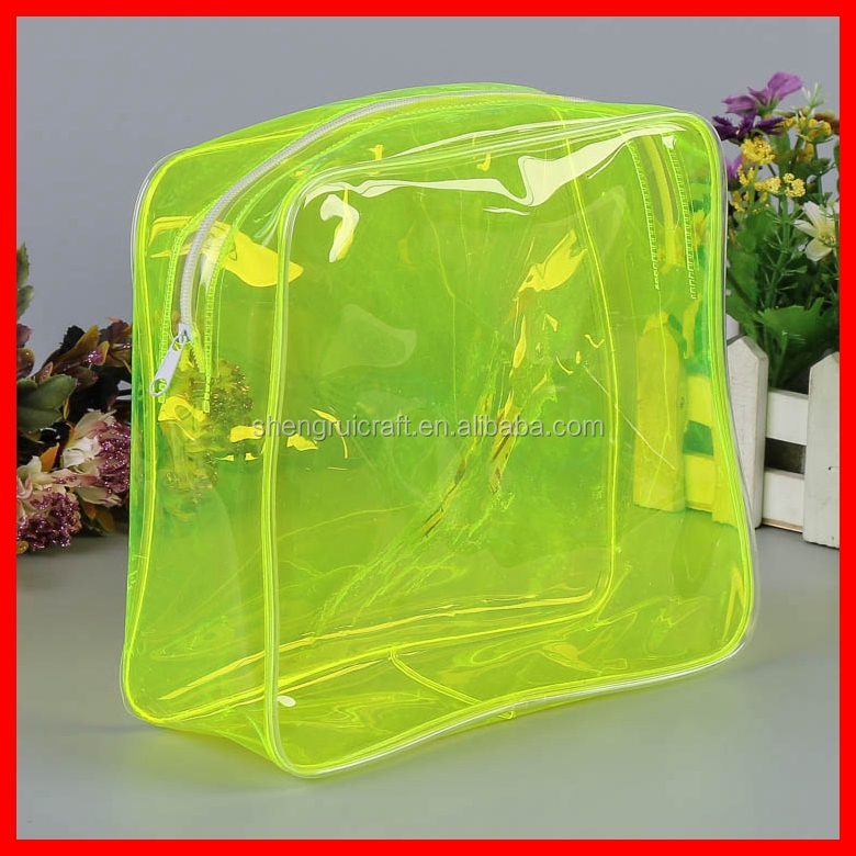 Hot Sale New Cute Clear Colored PVC Round Bag
