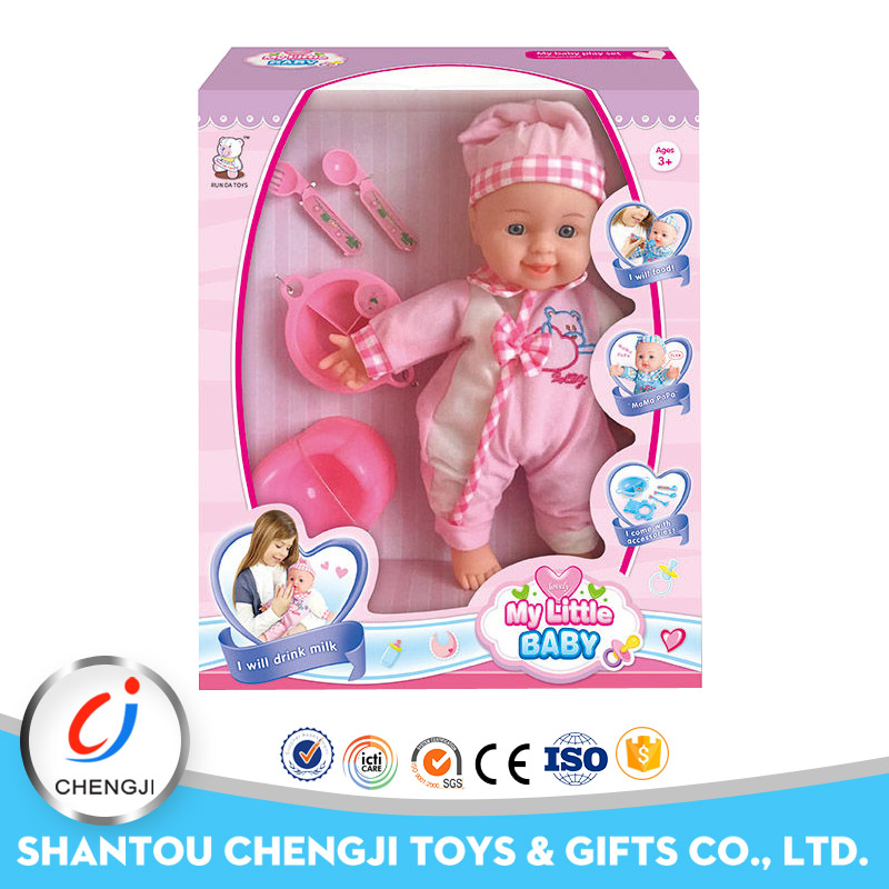 New arrivel lovely silicone vinyl reborn doll kit with music