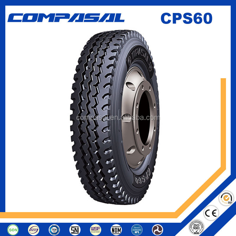 Compasal Brand Truck Tyre, 900R20, 1000R20, 1100R20, 1200R20 All Position Tyre