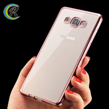 Rose Gold waterproof shockproof case for samsung galaxy a5 for Samsung A5 silicone Electroplated key cover