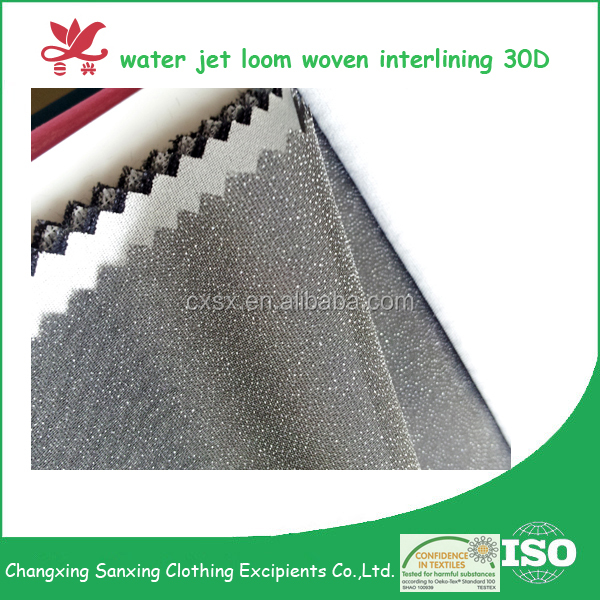 30D/50D 122cm PA Polyester Woven fusing interlining fabric for ladies suits