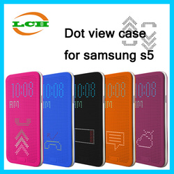 Factory sale shockproof smart intelligent dot view case cover for samsung galaxy s5