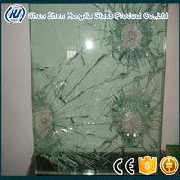 bank vehicle car office shop and private house BS CE multi layer laminated safety glass bulletproof glass