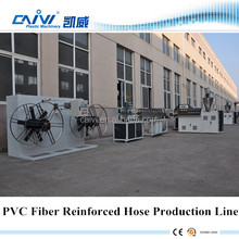 PVC braid reinforced hose making machine for sale/fiber reinforced hose pvc garden hose machinery production line