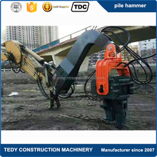 Excavator hydraulic concrete sheet pile driver hammer