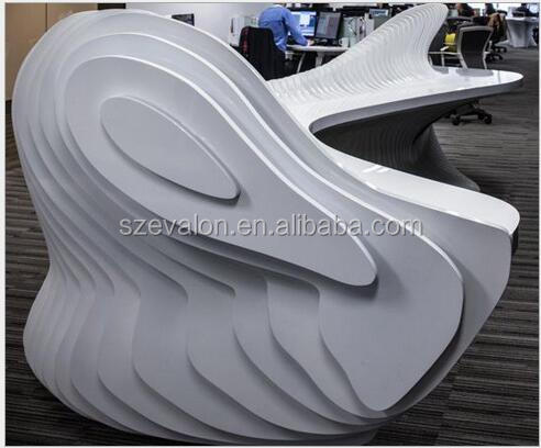 Artificial stone modern design reception counter used,solid surface reception desk counter