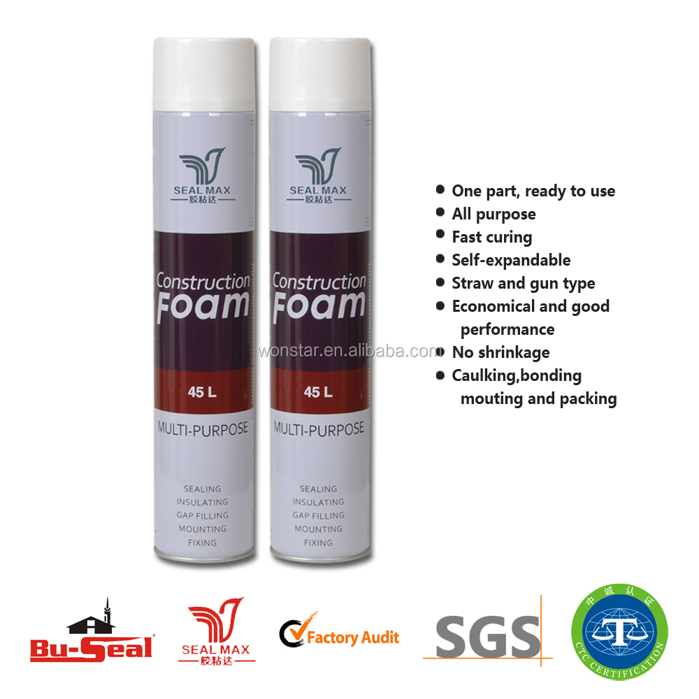universal use aerosol spray pu foam