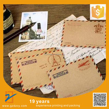 Brown Kraft Paper Stationery C6 C5 Paper China Post Air Mail Vintage Envelope
