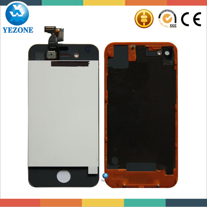 Mobile Phone Lcd for iphone 4 4s LCD Touch Screen+Lcd Display Assembly+Frame Complete White Black Replacement