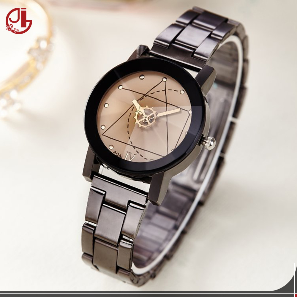 Original Brand Man Woman Sports Clocks Couple Lovers Couple Analog Quartz Full Stainless Steel Band Bracelet Watch Men