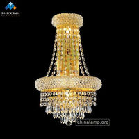 4 Lights wall lamp modern crystal