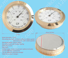 37mm metal casing thermometer with quality bimetal thermometer fit-up thermometer movement