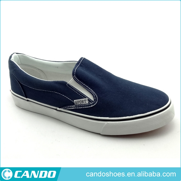 wholesale china canvas upper slip on mens shoes, italian vulcanized rubber sole easy wear men casual shoes