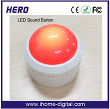 Factory price Activated Talking Message Sound box heart shaped covered buttons for promotion products