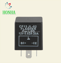 3 Pin Motorcycle Electronic LED Flasher Car Relays Blinker Fix Turn Signal S 12V Relay for LED Bulbs Indicators CF13 JL-02