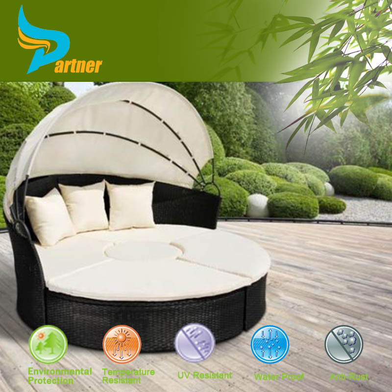 2016 Selling Well Comfortable Round Shaped Rattan Outdoor Garden Chaise Lounge Chair