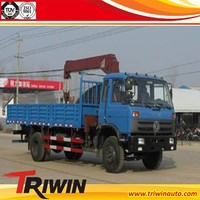 MADE IN CHINA DONGFENG 6 WHEELER 180 HP EU3 CUMMINSES DUMP TRUCK WITH CRANE SALE