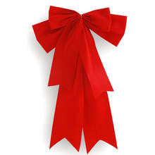 Hot sales Christmas wired edged red velvet ribbon bows