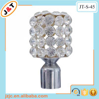 fancy designs wholesales beaded window curtain rod diamond curtain finial