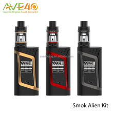 2016 Delicate Design!Wholesale The SMOK 220 W Alien Kit consists of Alien 220 Mod and TFV8 Baby Tank