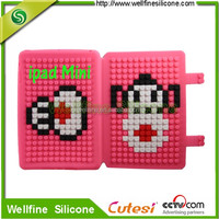 blocks design silicone case for 7 inch tablet pc