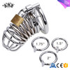chastity cage male Belt Restraint Bondage Fetish lock Stainless steel male chastity device