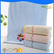 China supplier wholesale high quality embroider logo 100% organic cotton bath towels