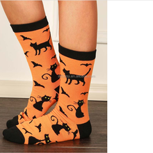 2018 Sexy And Lovely Bright Color Halloween Cat Bat Splicing Socks Bulk Wholesale