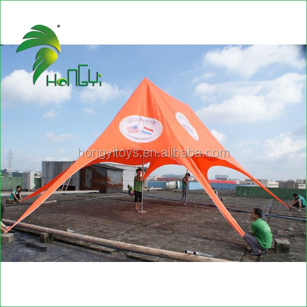 Professional Large Double Peak Party Canopy Star Shade Tent , Outdoor Star Shape Sun Shelter Tent For Sale