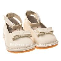 cream color girls squeaky shoes SQ-A11109CR