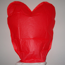 Heart Shaped Paper Balloon Kite Sky Lanterns