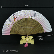 Souvenir Birthday Gift Chinese Personalized Spanish Folding Hand Fan GYS912-8