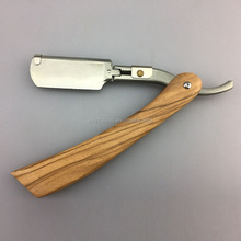 High quality OEM shaving barber razor with wooden handle