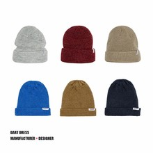 Beanies with custom woven label
