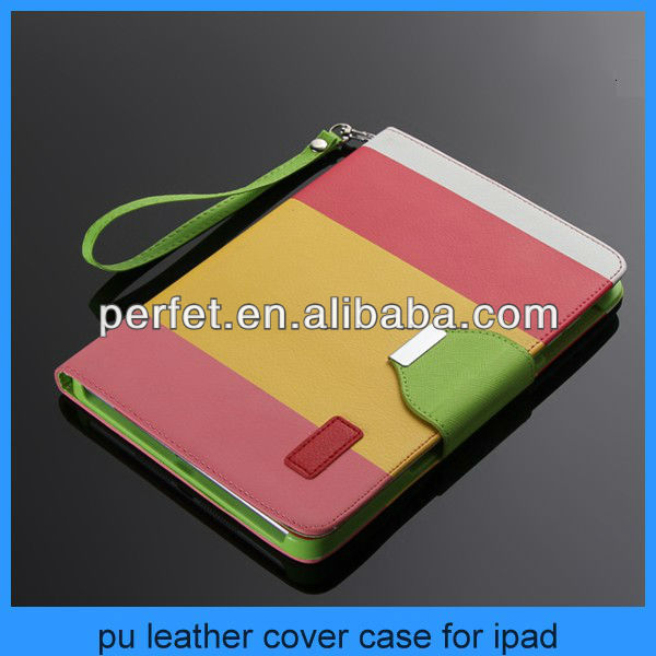 Hybrid PU Leather Wallet Flip Pouch Stand Case Cover For iPad mini accessories