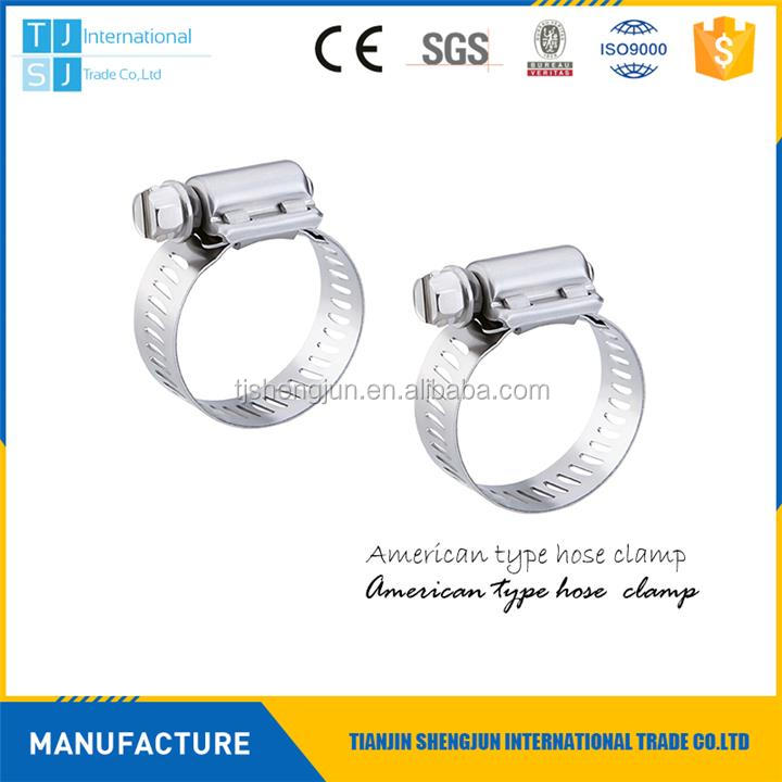 "New design 7/32"""" - 5/8"""" american type hose clamps with great price"