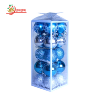 Colored Shatterproof Tree Hang Balls Clear